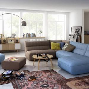 Wygodna sofa to podstawa udanej domówki. Najlepiej sprawdzą się meble meble modułowe, które można ze sobą dowolnie łączyć, także pod względem kolorystyki. Fot. Salony Agata