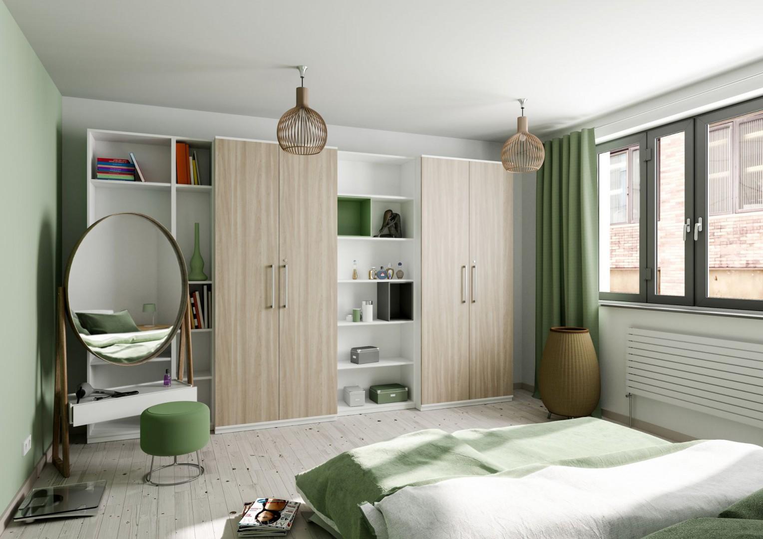 Meble wykończone dekorem Ravello prezentują się ciepło i naturalnie. Fot. Interprint