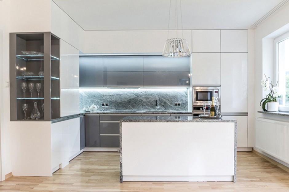 Urządzamy  Nowoczesna kuchnia Piękne meble w zabudowie  meble com pl -> Urządzamy Mieszkanie Kuchnia
