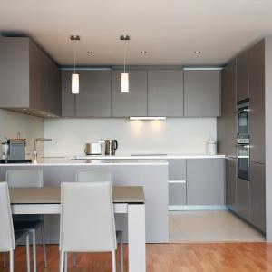 Szarości zdominowały nowoczesne aranżacje. W kuchni kolor ten prezentuje się doskonale. Fot. Lwk Kitchens