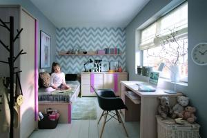 Pokój dziecka. Ciekawe meble w pięknych kolorach