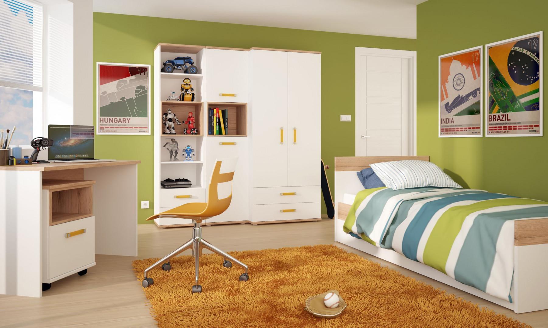 Pojemna szafa to praktyczny mebel w pokoju dziecka. Na zdjęciu - kolekcja Amazon. Fot. Meble Wójcik