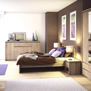 Sypialnia Norton ma widoczny rysunek drewna. Fot. Salony Agata