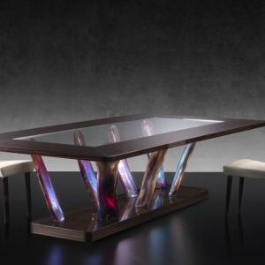 Stół ze szkła Murano marki Reflex. Fot. Reflex