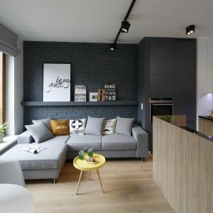 Wnętrze zainspirowane stylistyką loft. Projekt: Olga Kołodziej i Urszula Szmyt. Fot. Bartosz Jarosz