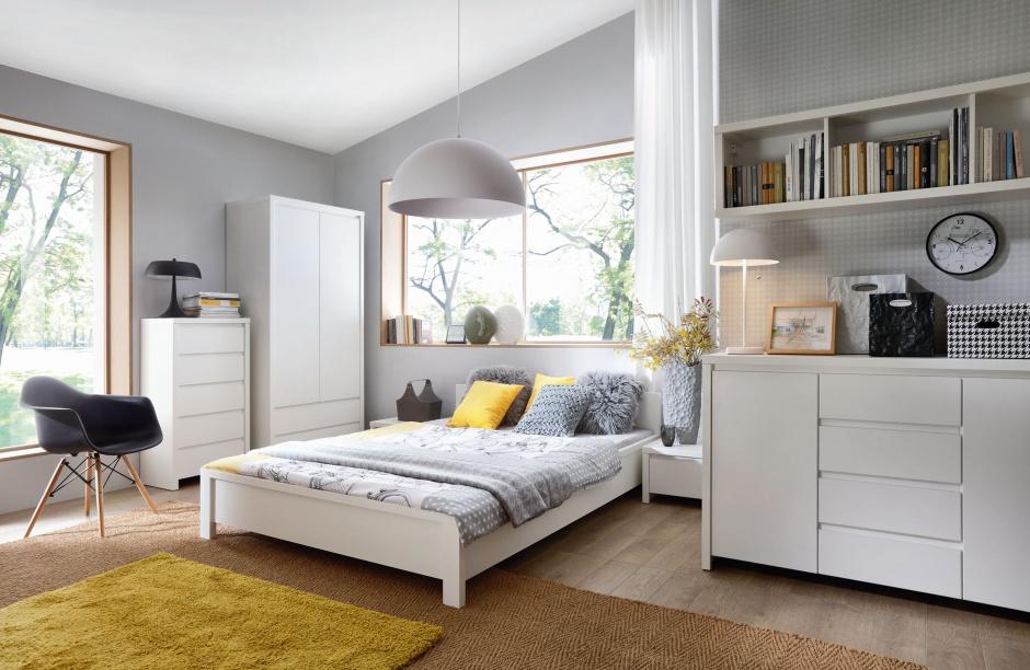 Kolekcja Kaspian sprawi, że sypialnia będzie jasna i świetlista. Fot. Black Red White