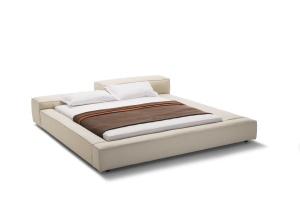 Łóżko z zagłówkiem o różnicowanej wysokości