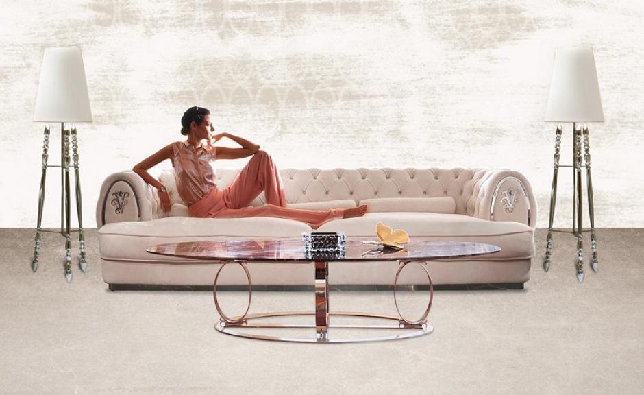 Sofa Visionnaire projektu Roberto Cavalli. Dostępna w galerii Heban. Fot. Archiwum
