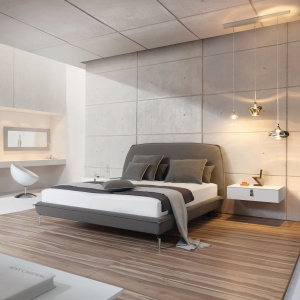Sypialnia w stylu loft. Fot. Huelsta