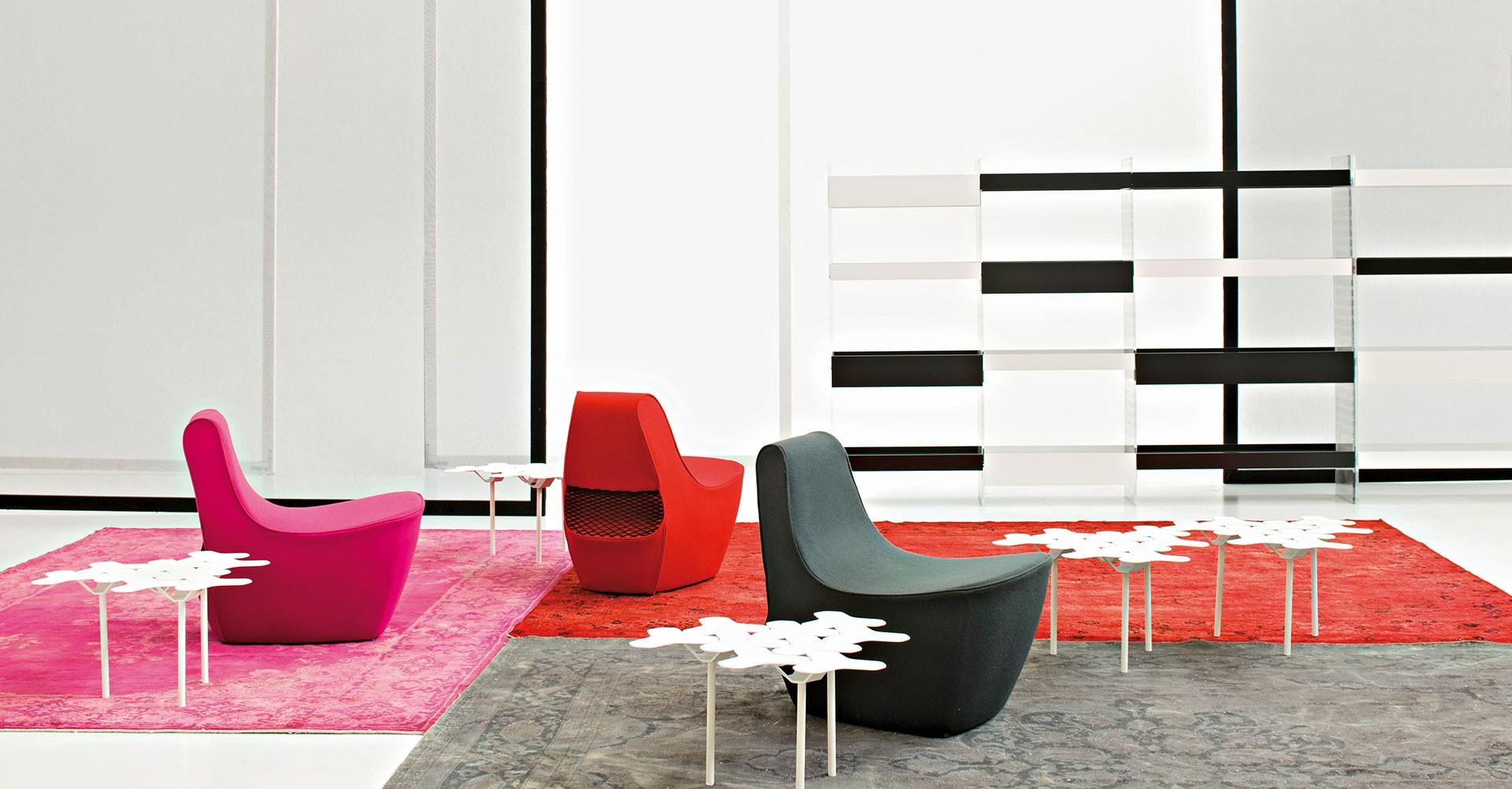 """Fotele z serii """"Tennis"""" zaprojektowane dla włoskiej firmy Moroso (2008). Fot. Alessandro Paderni/Moroso"""