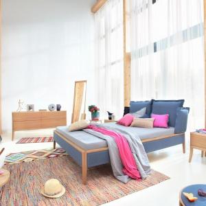 Łóżko Skey Luxury oprócz nowoczesnej stylistyki, ma również ciekawe kolory tapicerki. Fot. Swarzędz Home
