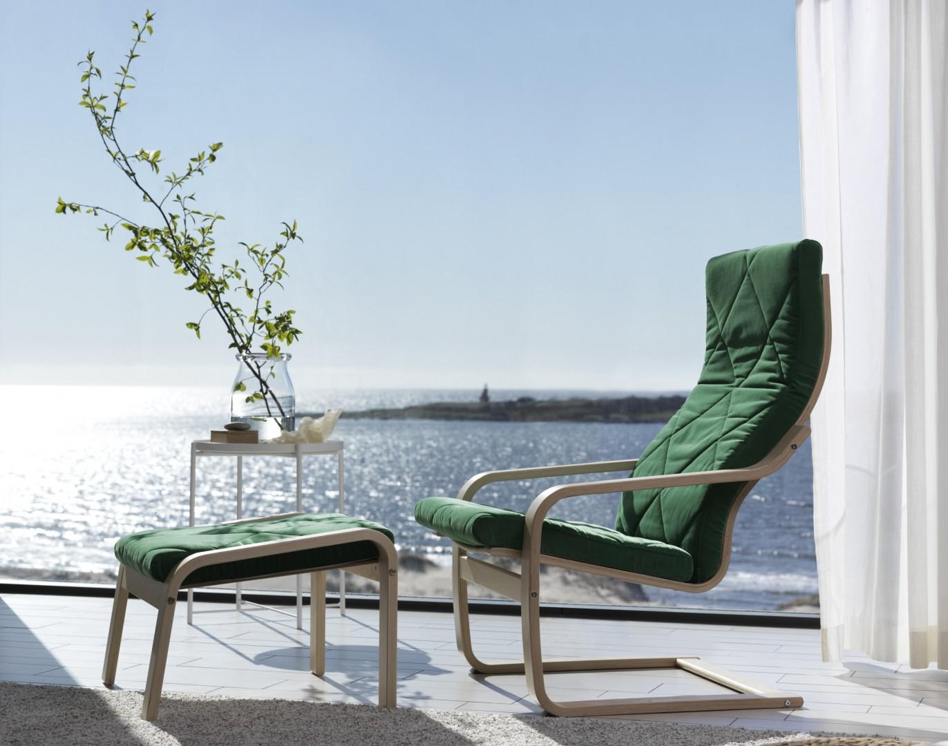Fotel Poäng zaprojektowany przez Noboru Nakamurę dla marki IKEA. Fot. IKEA