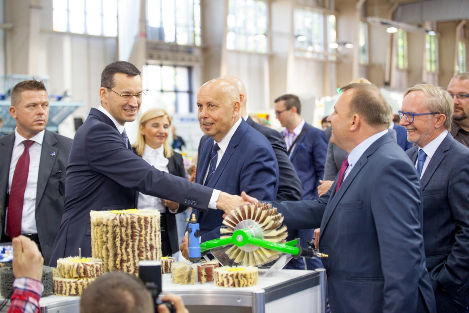 Minister Rozwoju Mateusz Morawiecki na targach Drema. Fot. MTP