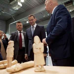Wizyta Ministra Rozwoju Mateusza Morawieckiego na targach Drema. Fot. MTP