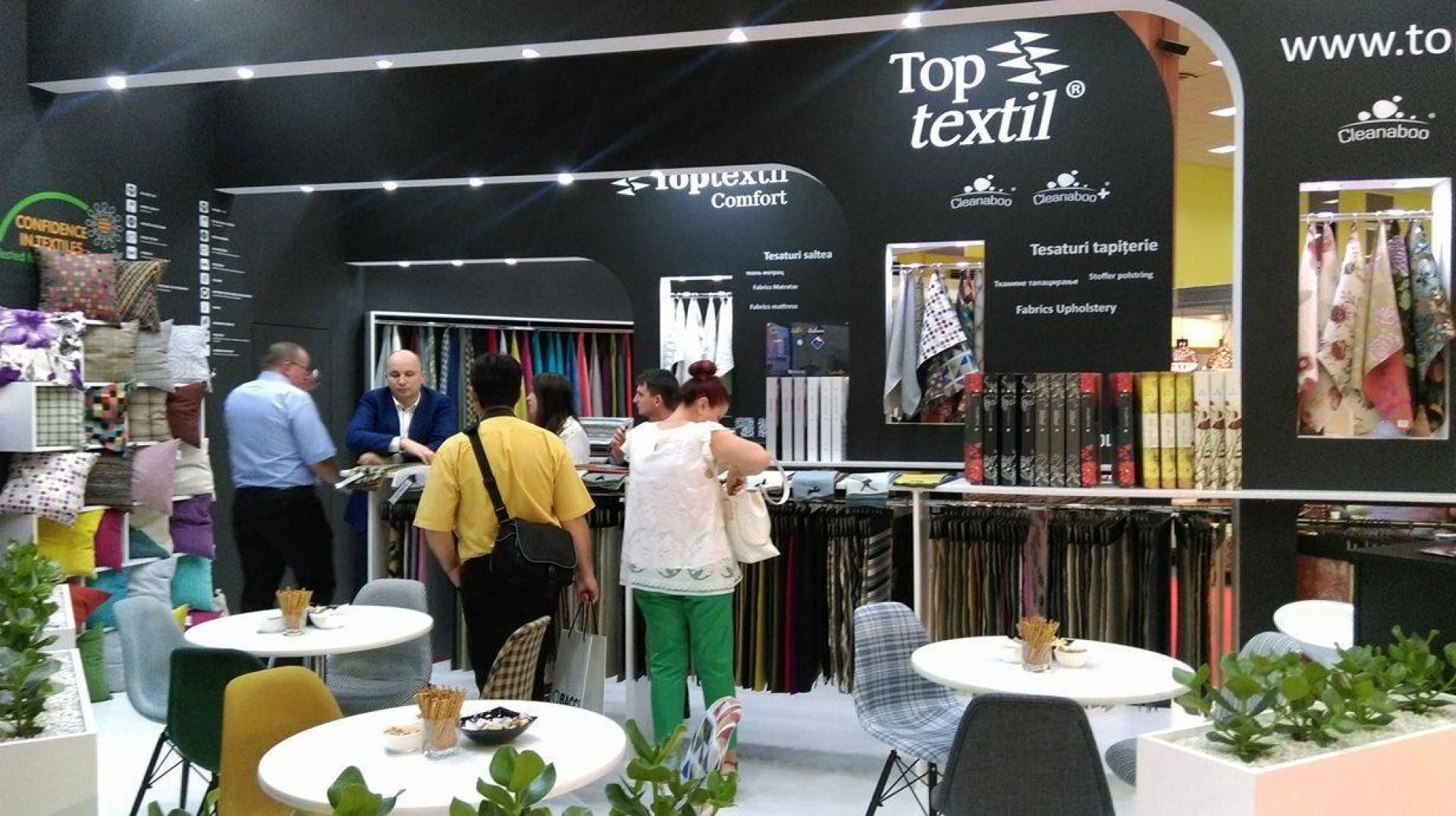 Stoisko firmy Toptextil na targach BIFE-SIM w Bukareszcie. Fot. Toptextil