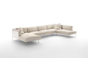 Sofa z pikowanymi guzikami