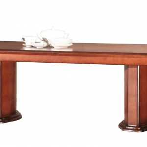 Stół z kolekcji Opium na kolumnach. Fot. Mebin