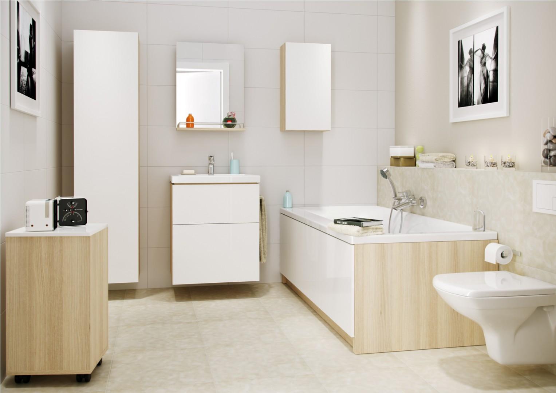Meble łazienkowe z kolekcji Smart firmy Cersanit. Fot. Cersanit