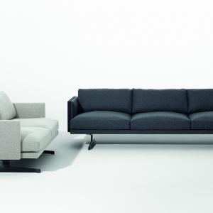 Zestaw wypoczynkowy o minimalistycznych kształtach. Fot. Arper
