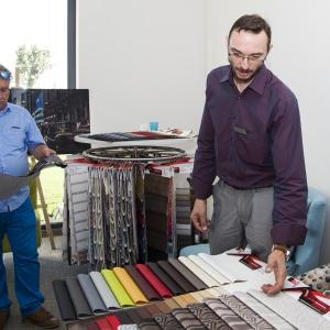 Targi wewnętrzne firmy Lech modern fabrics