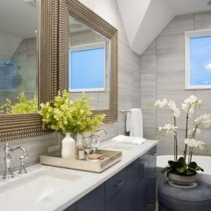 Aranżacja łazienki z blatem Technistone