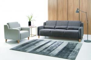 Sofa w salonie. 3 modele w szarym kolorze