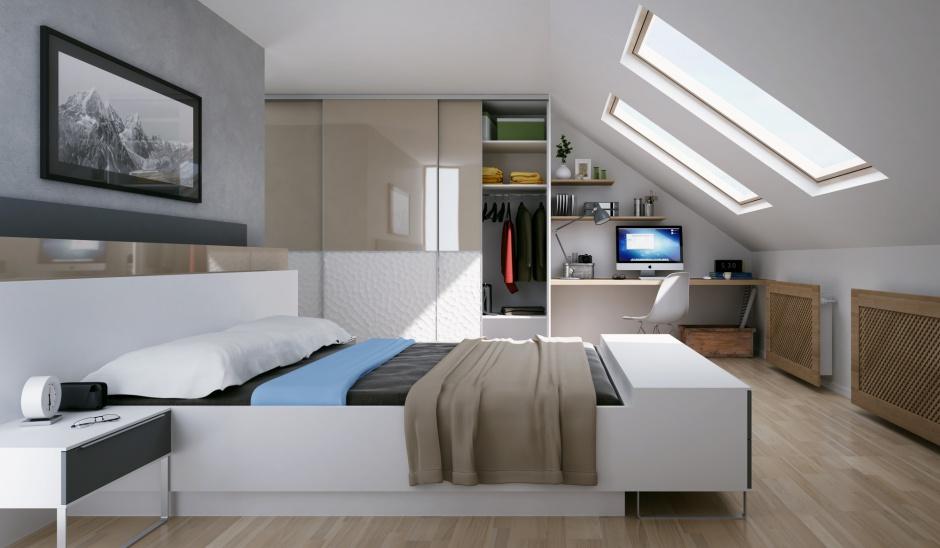 Urządzamy - Sypialnia na poddaszu. Meble idealne pod skosy - meble.com.pl
