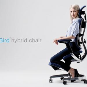 """Fotel """"Blue Bird"""" umożliwia pozycję klękosiadu. Fot. Human+"""