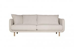 Sofa na drewnianych nóżkach