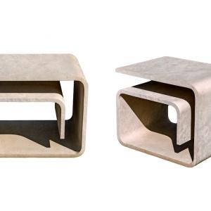 Komplet mebli i elementów małej architektury One Block/Granex. Dzięki odpowiedniemu zaprojektowaniu elementów użytkowych z jednego granitowego bloku uzyskaliśmy komplet mebli i elementów małej architektury, które idealnie wpisują się w miejski krajobraz, a jednocześnie stwarzają niepowtarzalną przestrzeń rekreacji i odpoczynku. Fot. Granex
