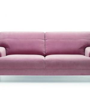 Sofa Mondo z miękkim oparciem, w ciekawym kolorze. Fot. Gala Collezione