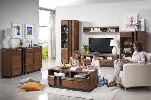 Meble z dekorem drewna. 5 pomysłów na salon