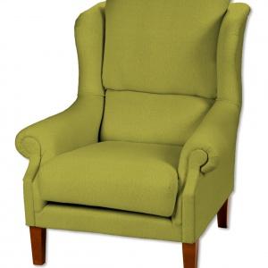 Fotel wykończony tkaniną. Fot. Dekoria