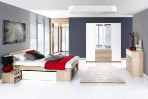 Meble w sypialni. Łóżka z pojemnikiem na pościel