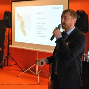 Andrzej Romaniuk pokazał unikalne wzornictwo marki Duravit.