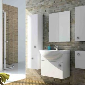 Meble łazienkowe oferują wiele miejsca do przechowywania zajmując jednocześnie mało powierzchni. Fot. Aquaform