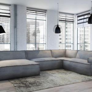 Narożnik LeNoir to nowoczesny mebel o dużym, wygodnym siedzisku. Fot. Adriana Furniture