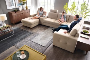 Sofa w salonie. Wygodne modele dla dużej rodziny