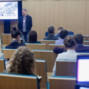 Rafał Ślęk z WSC Graphisoft Center Poland, który wyjawił tajniki nowych technologii i ich roli w procesie projektowania i designu. Fot. Paweł Pawłowski