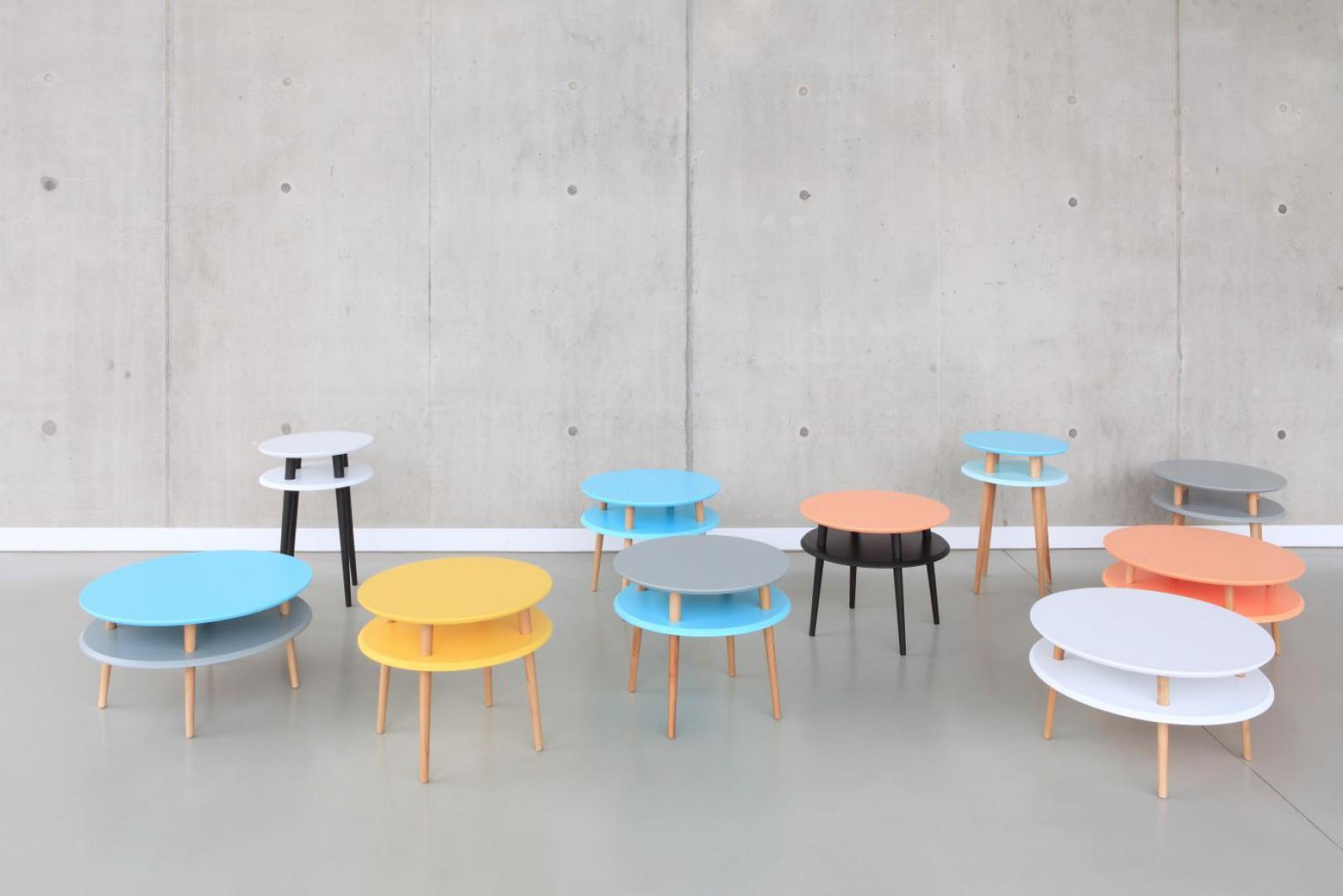 Stoliki z linii UFO. Projekt: Ragaba. III miejsce w konkursie Diamenty Designu.  Fot. Serwis organizatora