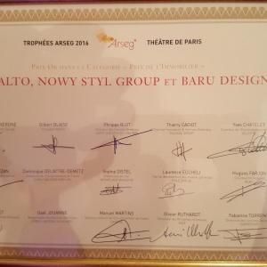 Dyplom potwierdzający zdobycie nagrody ARSEG w kategorii