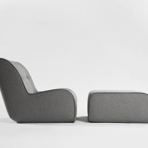 Fotel z podnóżkiem Zulu. Projekt TOmek Rygalik dla marki COmforty. Fot. Ernest Wińczyk
