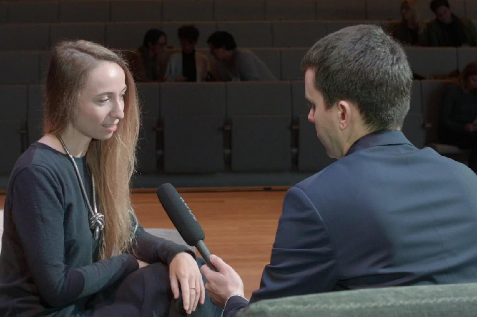 Maja Ganszyniec na Forum Dobrego Designu. Fot. PTWP