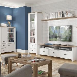 Białe meble w wersji skandynawskiej prezentują się bardzo przytulnie. Na zdjęciu: kolekcja