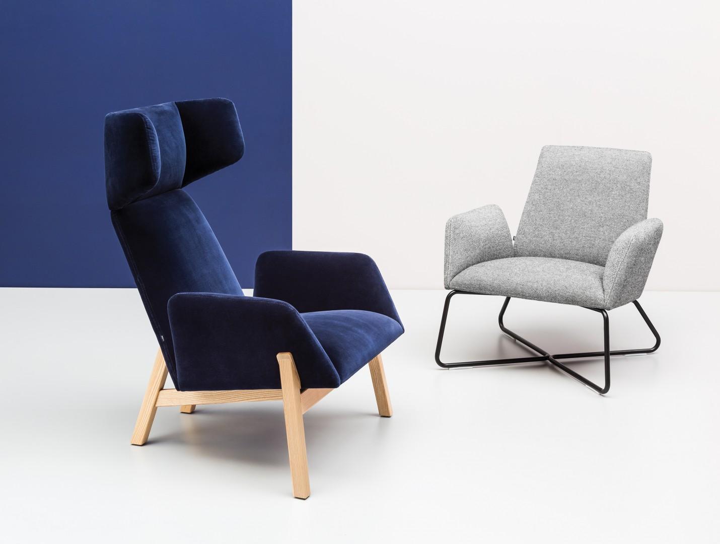 Fotele Manta to klasyczny uszak w nowoczesnej odsłonie. Fot. Noti