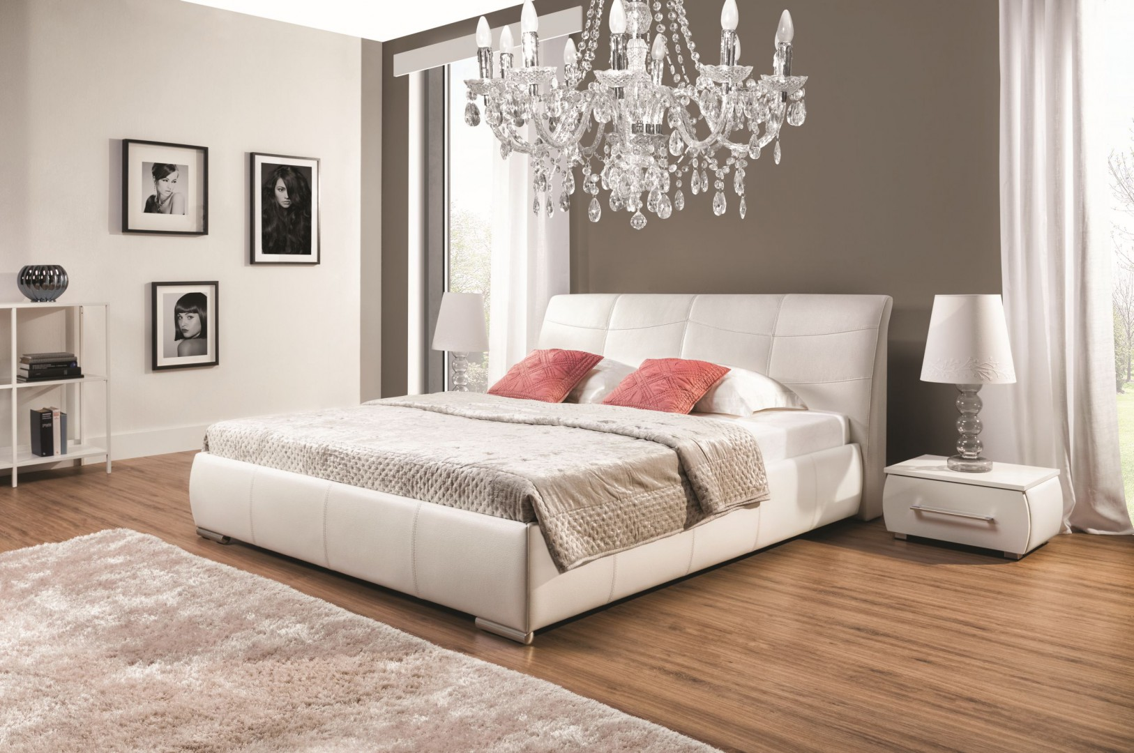 Łóżko tapicerowane Apollo. Fot. New Elegance