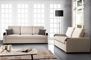 Modna sofa. Nowości w kolorze beżowym
