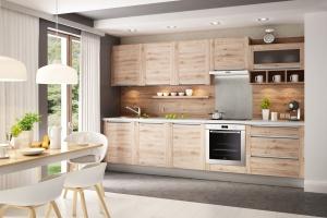 4 pomysły na kuchnię z dębowym dekorem drewna