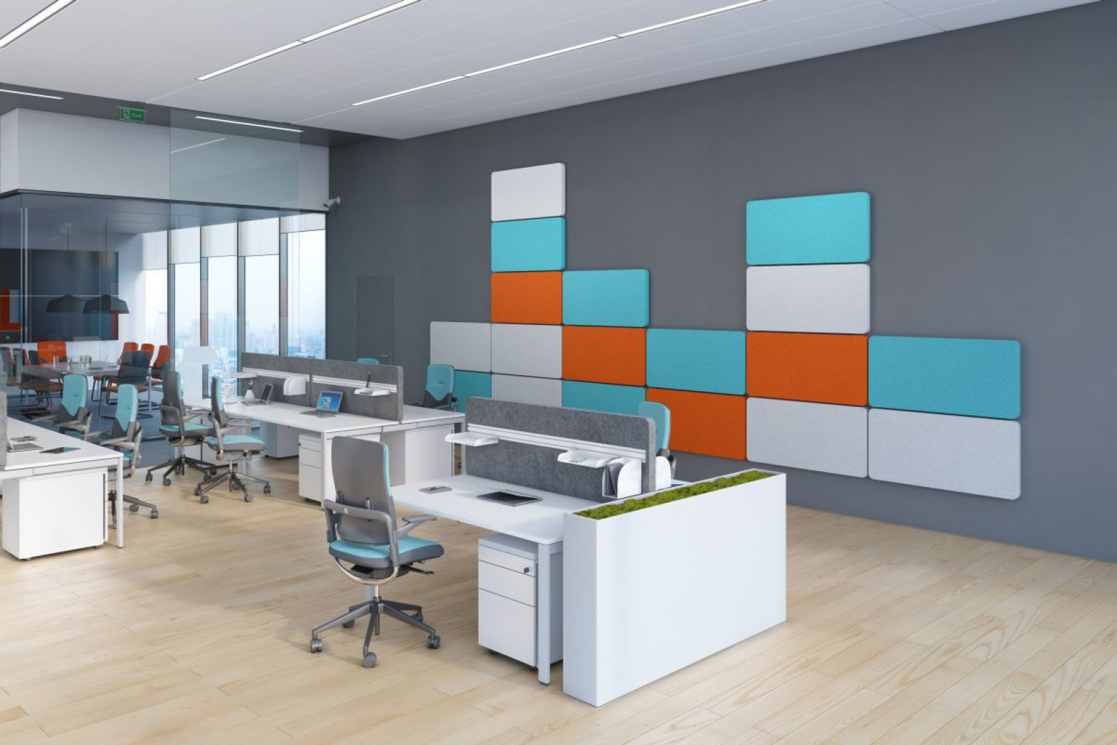 Produkty z linii Sileo (Grupa Nowy Styl) są tapicerowane wysokogatunkową tkaniną i zawierają dźwiękochłonne wypełnienie. Fot. Grupa Nowy Styl