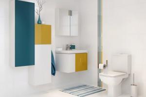 Meble łazienkowe. Czy koniecznie muszą być białe? Zobacz te projekty!